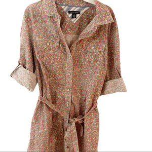 Tommy Hilfiger Floral Cotton Shirt-Dress